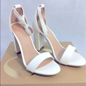 White Charlotte Russe Heeled Sandals